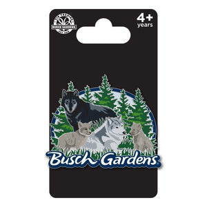 Busch Gardens Williamsburg Wolf Family Pin