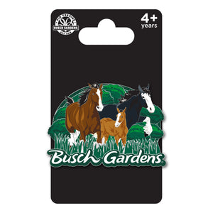 Busch Gardens Williamsburg Clydesdale Family Pin