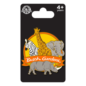 Busch Gardens Tampa Safari Animal Cluster Pin
