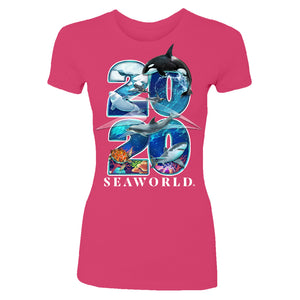 2020 SeaWorld Pink Women's Tee