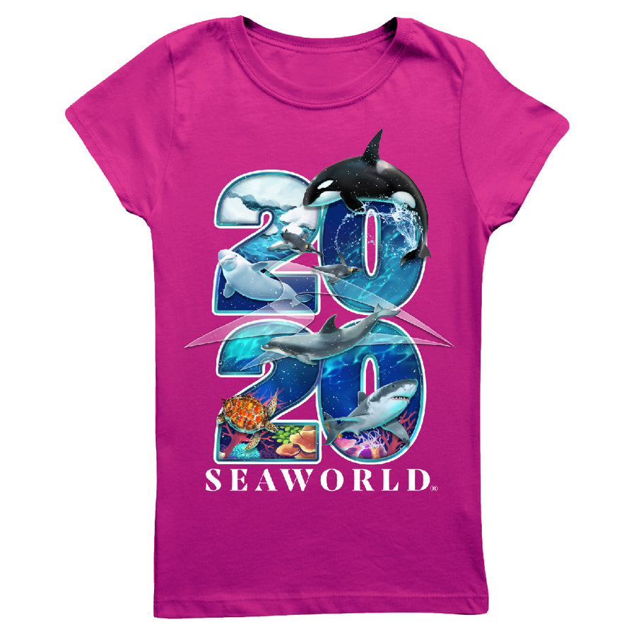 2020 SeaWorld Pink Girl's Tee