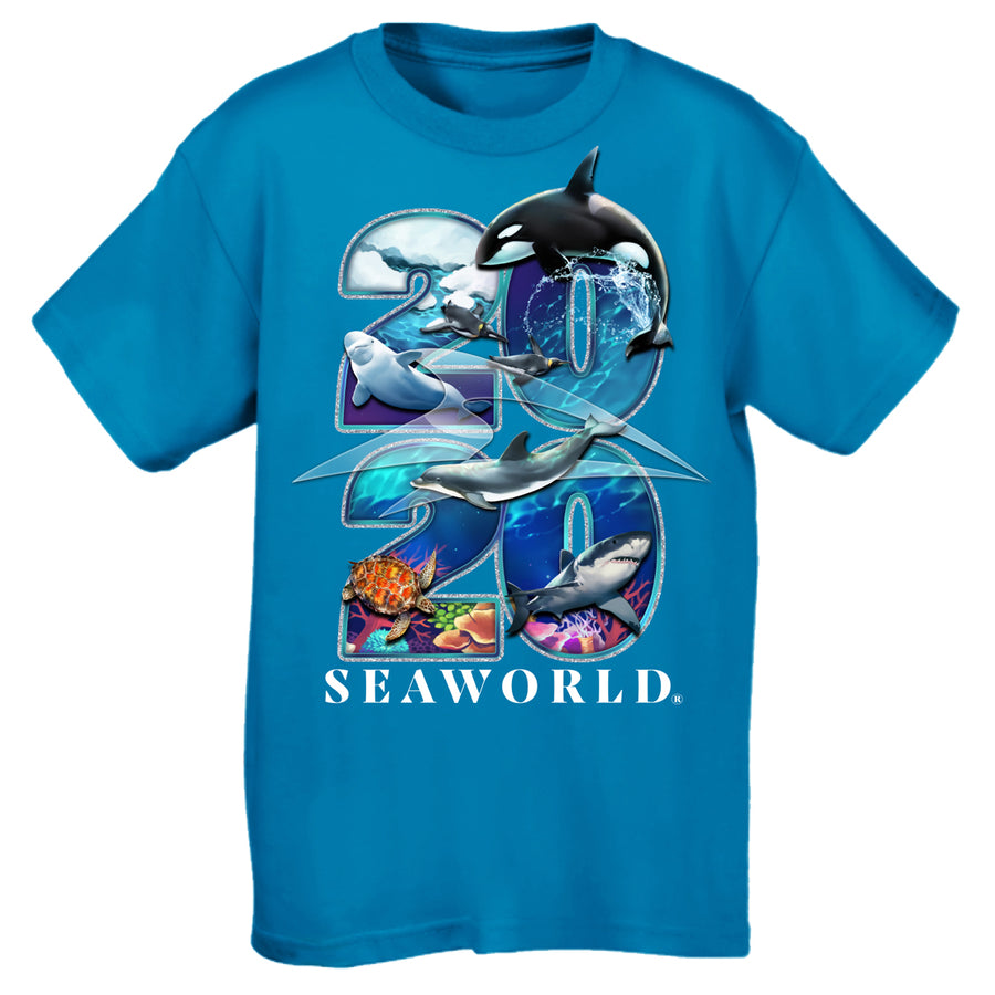 2020 SeaWorld Turquoise Youth Tee