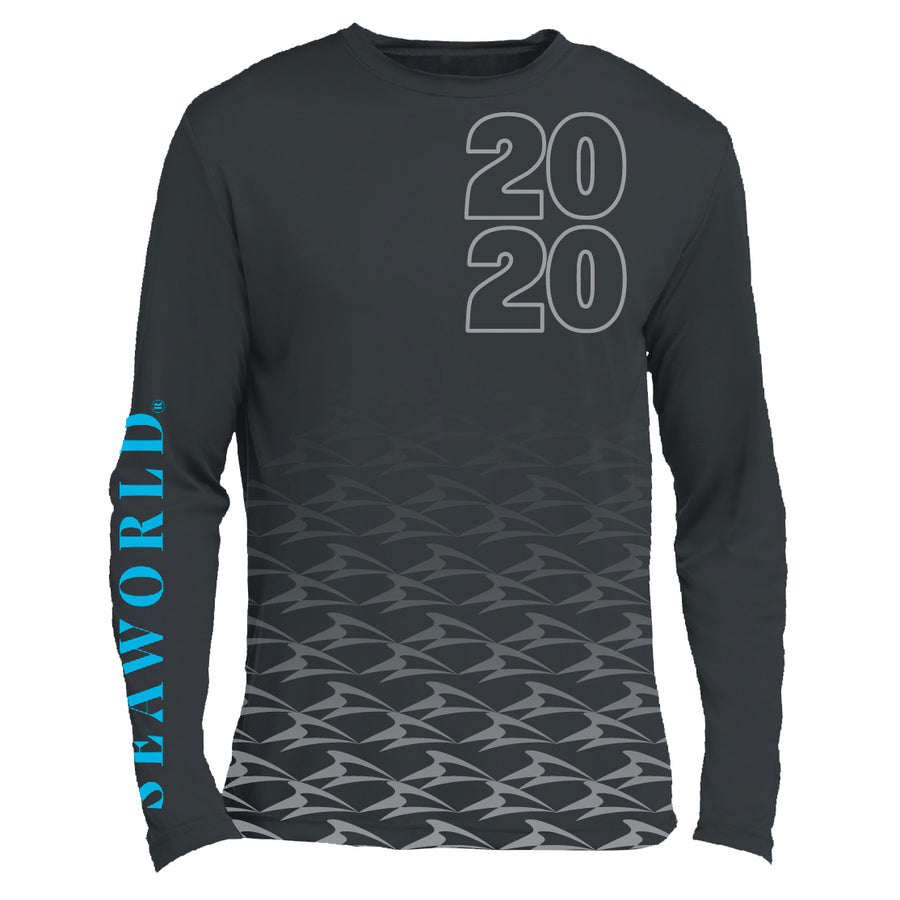 2020 SeaWorld Long Sleeve Performance Grey Tee