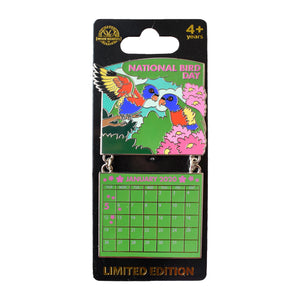 National Bird Day Jan. 2020 Calendar Pin