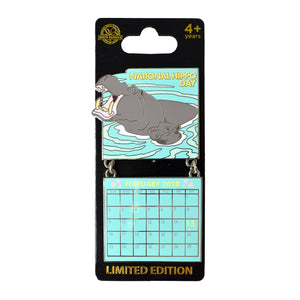 National Hippo Day February 2020 Calendar Pin