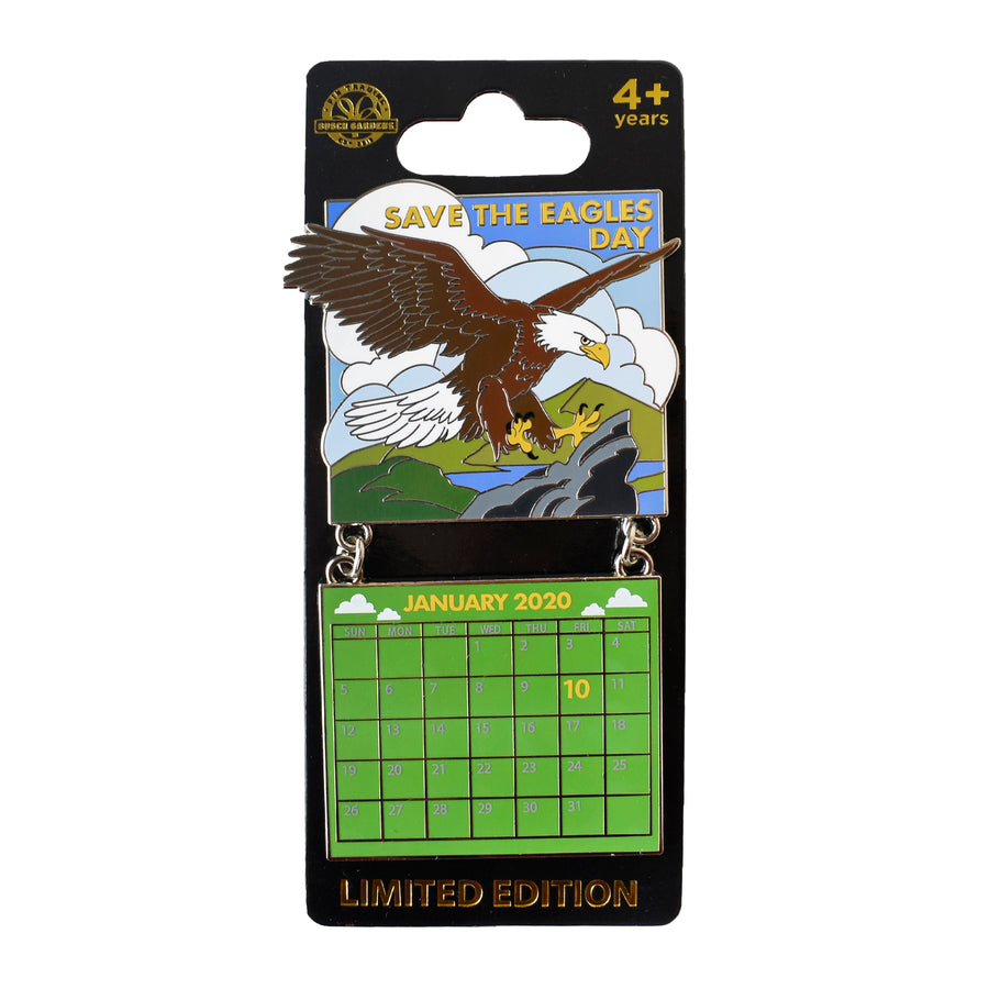 Save the Eagles Day Jan. 2020 Calendar Pin