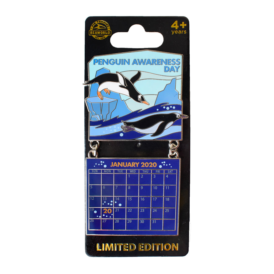 Penguin Awareness Day Jan. 2020 Calendar Pin