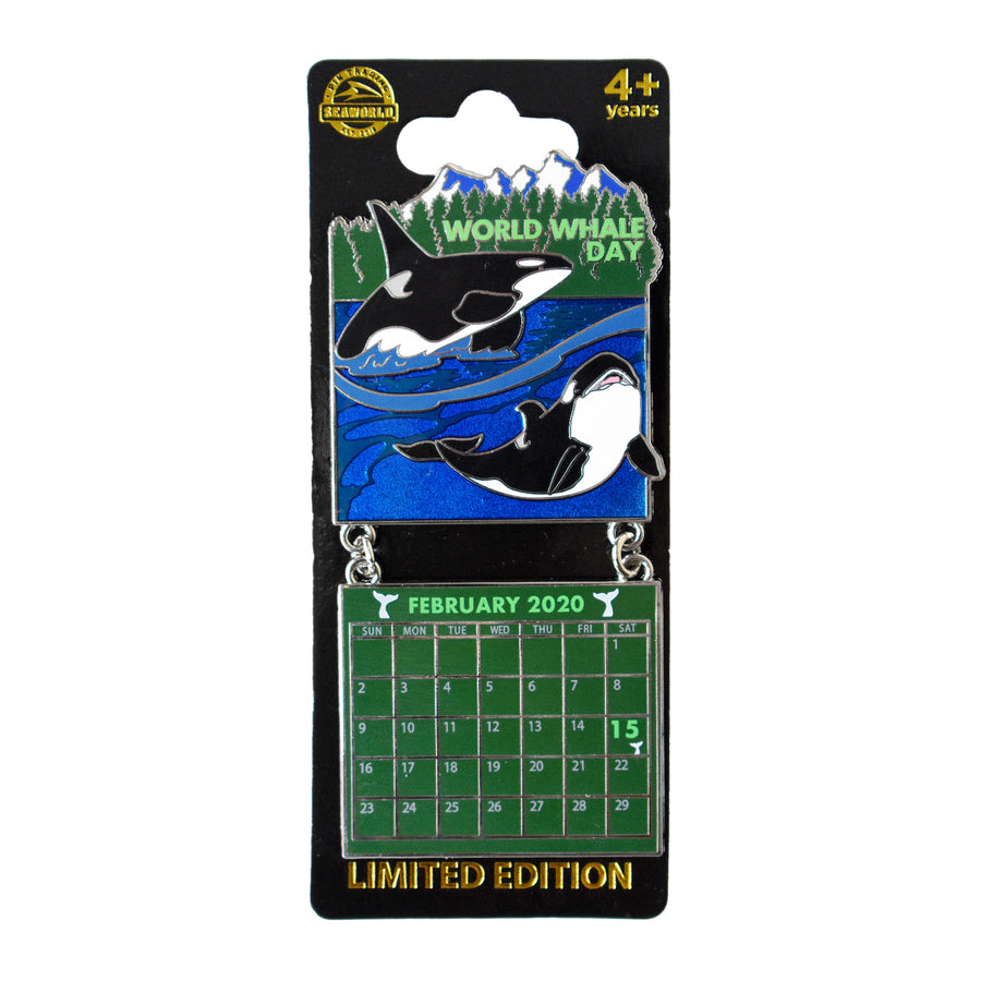 World Whale Day February 2020 Calendar Pin
