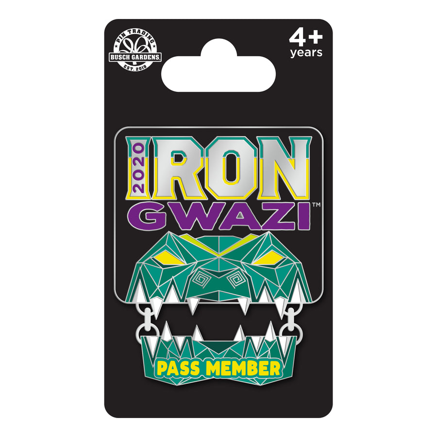 Busch Gardens Tampa Iron Gwazi Pass Member Exclusive Pin