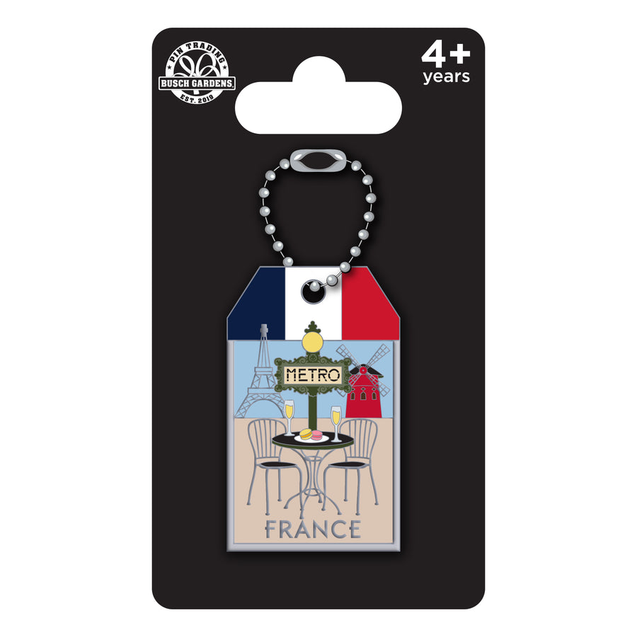 Busch Gardens Williamsburg Luggage Tag France Pin