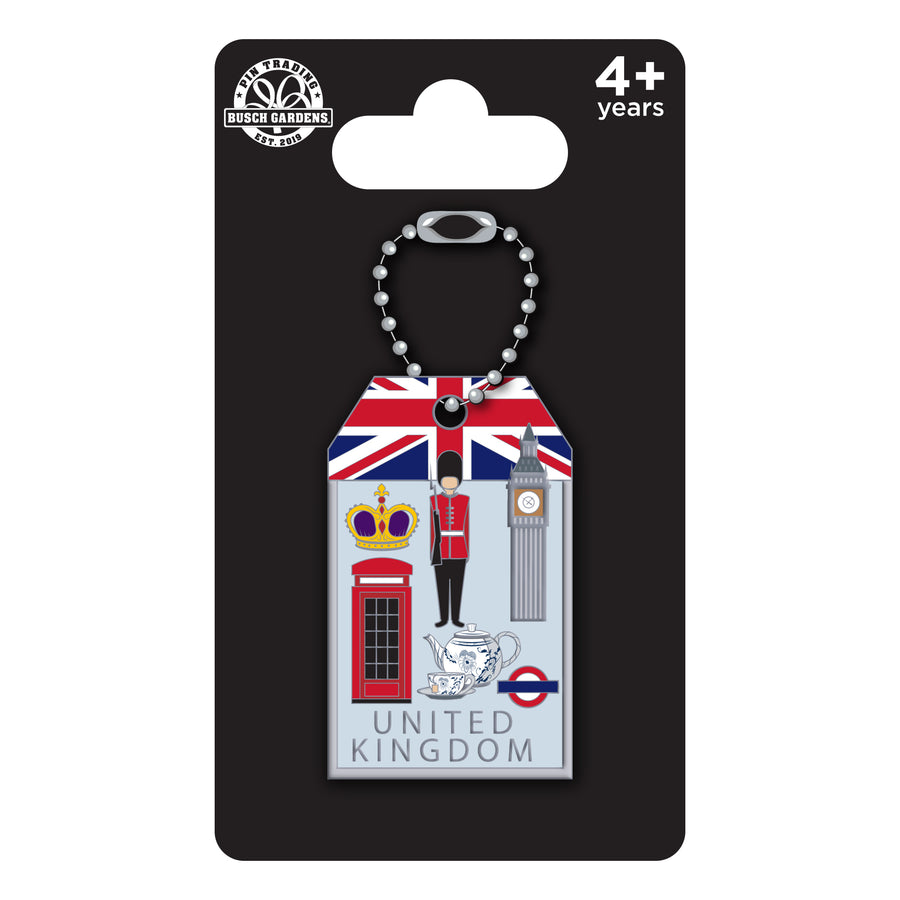 Busch Gardens Williamsburg Luggage Tag UK Pin