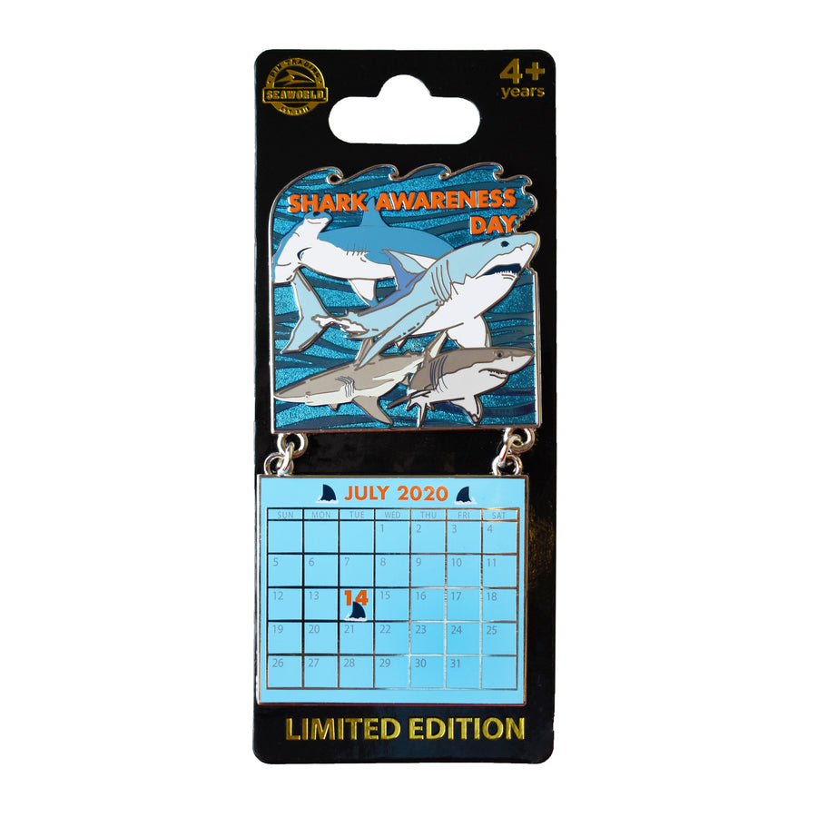 Shark Awareness Day July 2020 Calendar Pin