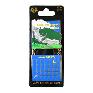 Save the Rhino Day May 2020 Calendar Pin