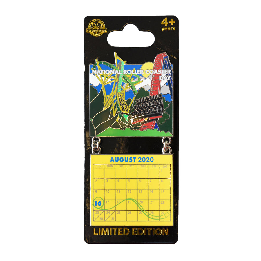 National Roller Coaster Day August 2020 BGT Calendar Pin