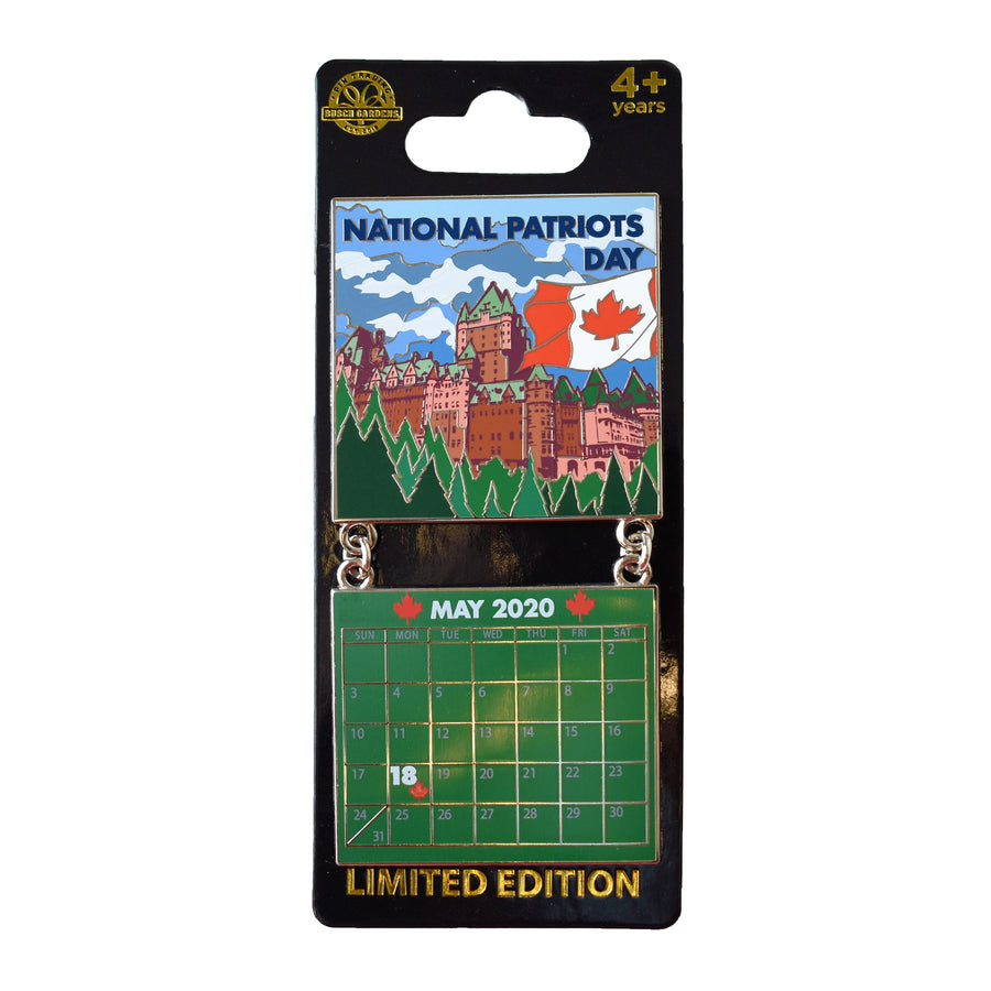 National Patriots Day May 2020 Calendar Pin