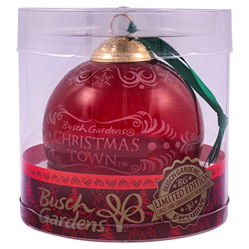 Busch Gardens Limited Edition Red Glass Ornament