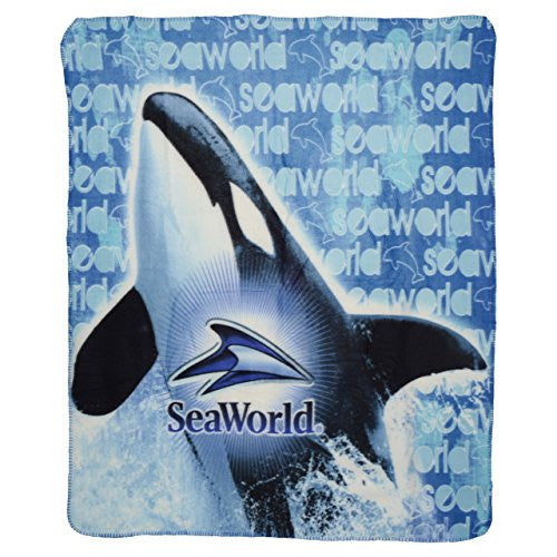 Whale Banner Fleece Throw