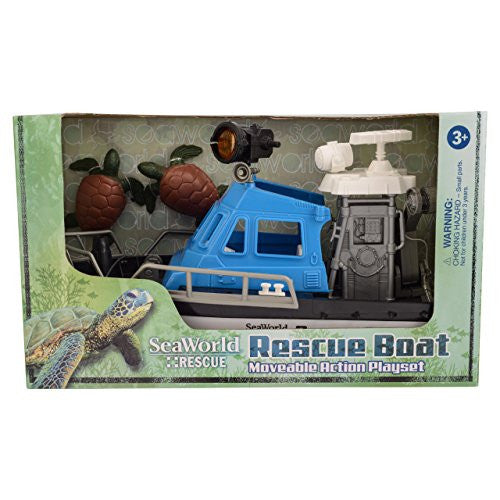 SeaWorld Rescue Boat Moveable Action Playset