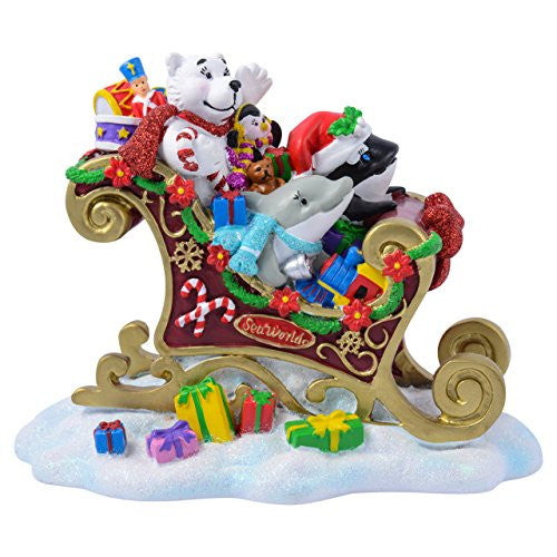 SeaWorld Characters in Sleigh Resin Figurine
