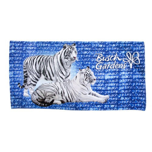White Tiger Banner Towel