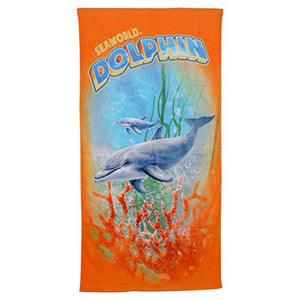 Dolphin Orange Towel
