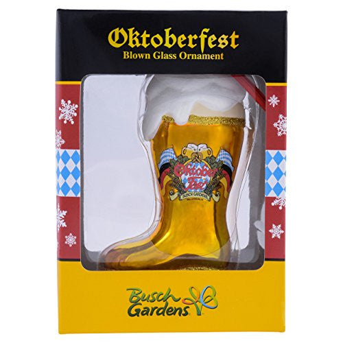 Busch Gardens Glass Oktoberfest Boot Ornament