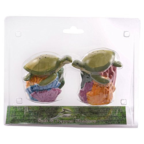 Sea Turtle Banner Salt & Pepper Shakers