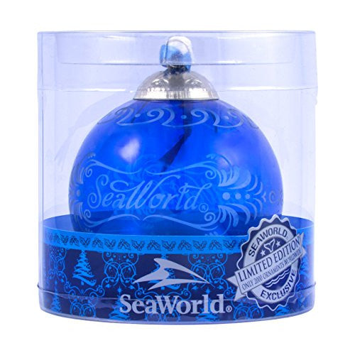 SeaWorld Limited Edition Glass Blue Ornament