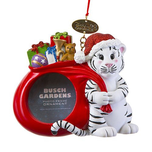 White Tiger Photo Resin Ornament