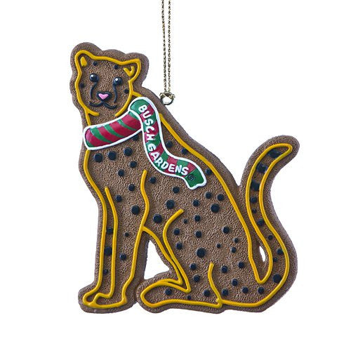 Cheetah Gingerbread Resin Ornament