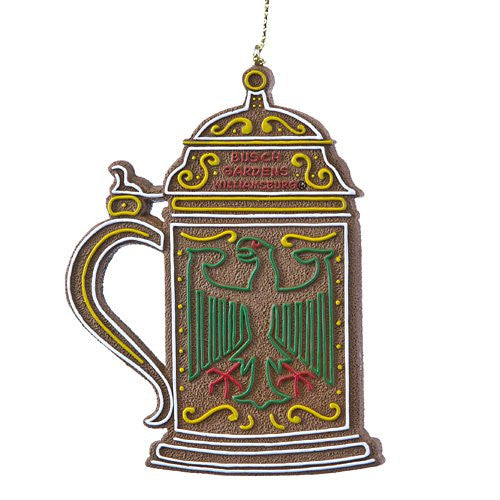 Beer Stein Gingerbread Resin Ornament