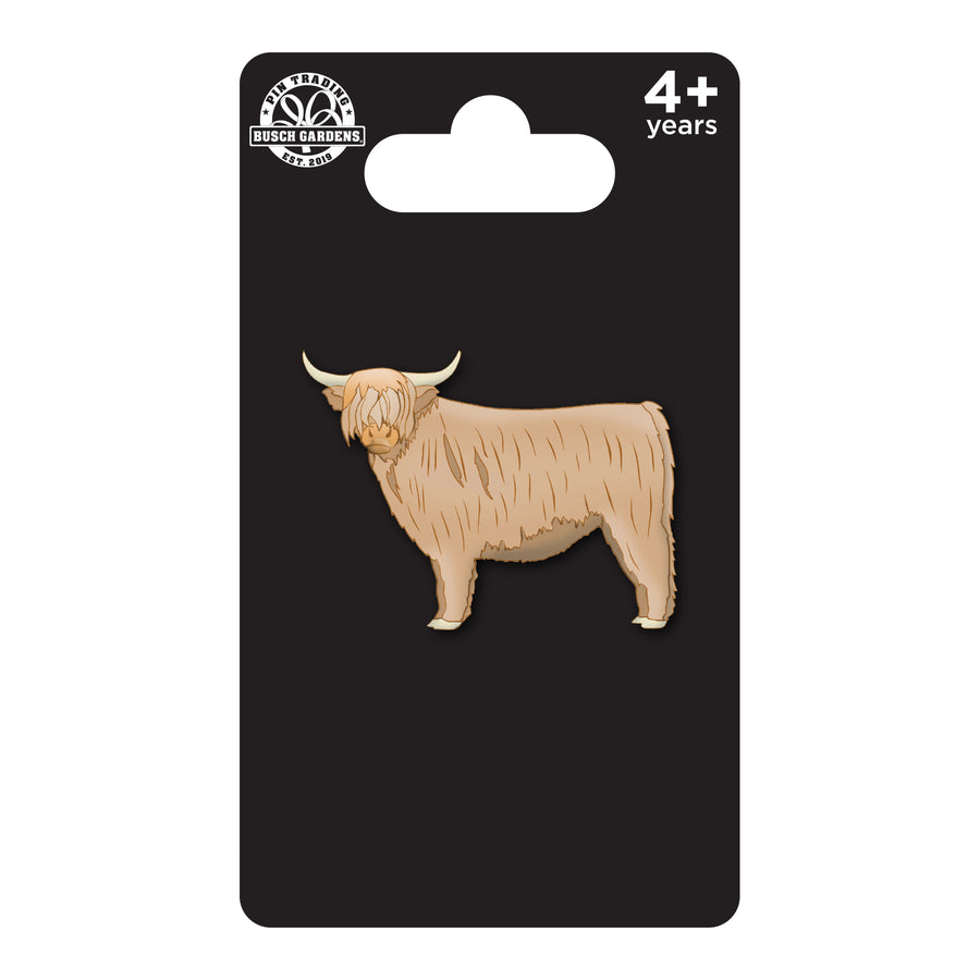 Busch Gardens Williamsburg 3D Cast Highland Cow Pin