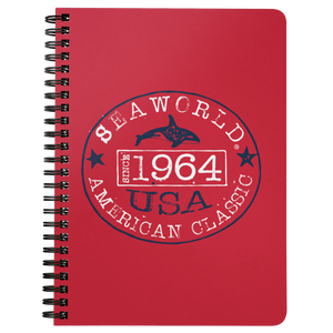 SeaWorld American Classic Stamp Red Notebook