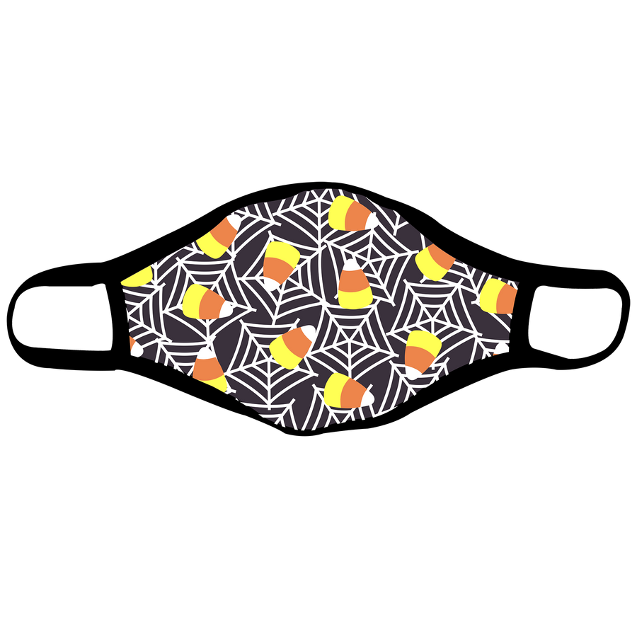 Candy Corn Web Adult Face Mask