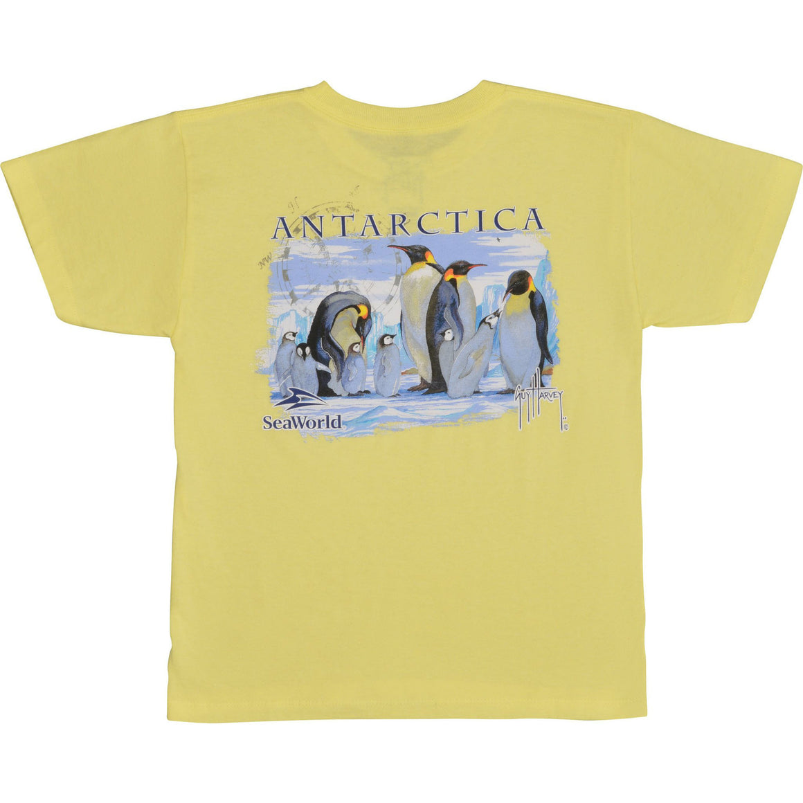 SeaWorld and Guy Harvey Exclusive Antarctica Youth Light Yellow Tee