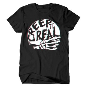 Halloween Creep it Real Black Adult Tee