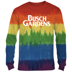 Busch Gardens Rainbow Tie-Dye Adult Long Sleeve
