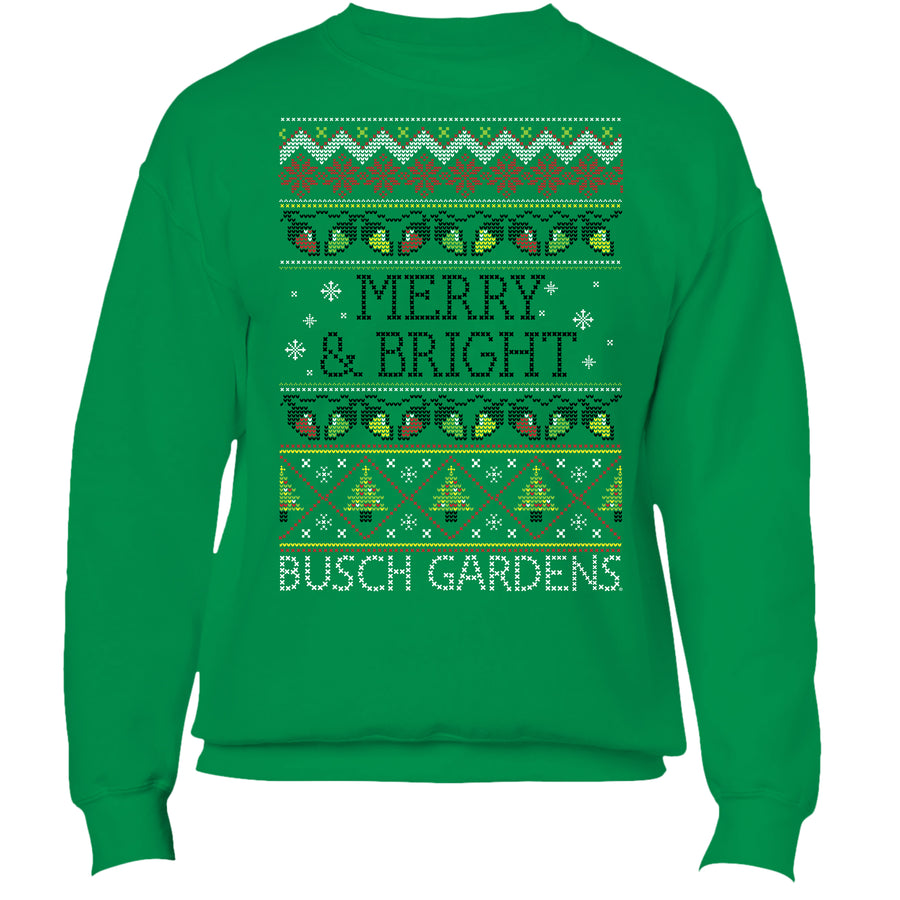 Busch Gardens Ugly Christmas Sweater - Adult Crew Fleece