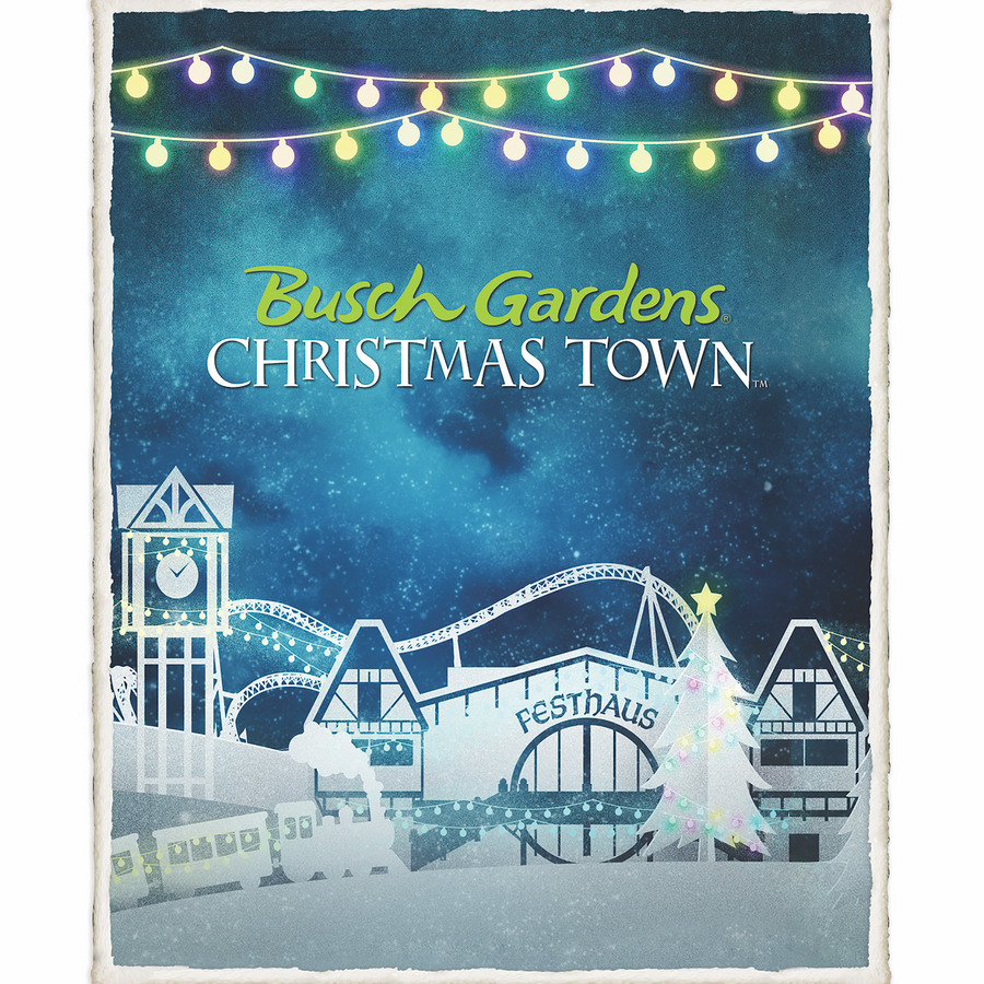 Busch Gardens Williamsburg Holiday Blanket Sherpa