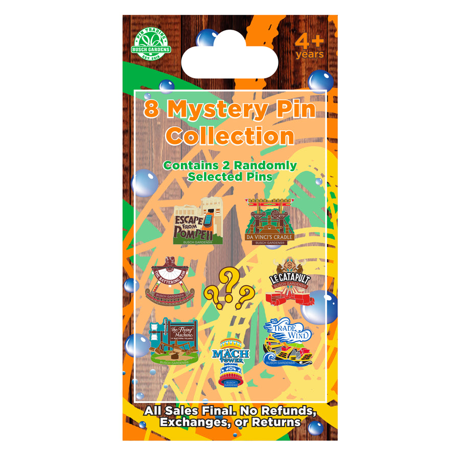 Busch Gardens Williamsburg Attractions Mystery Pin Series 2