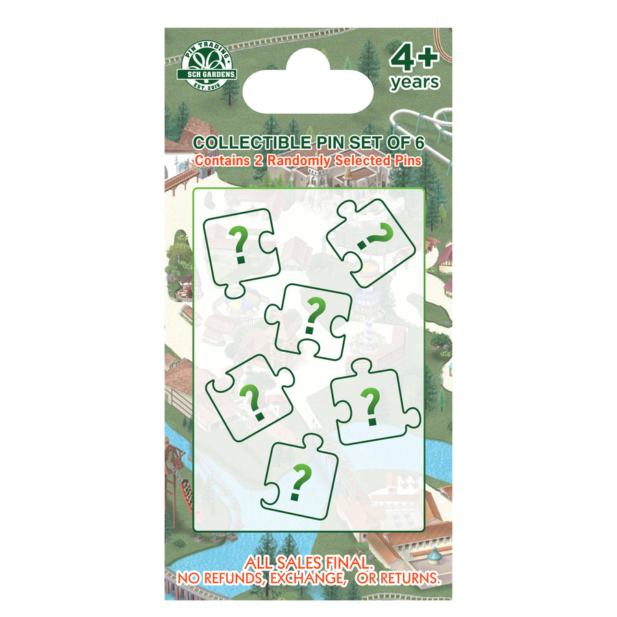 Busch Gardens Williamsburg Park Map Collectible Pin Set