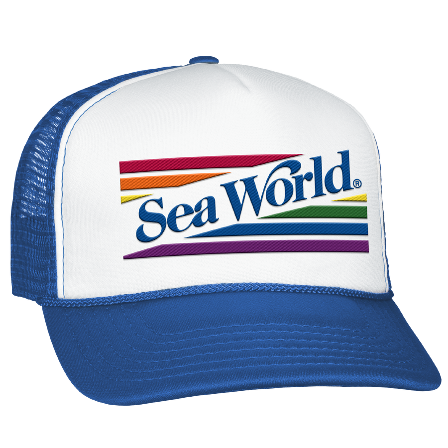 SeaWorld Rainbow Trucker Hat