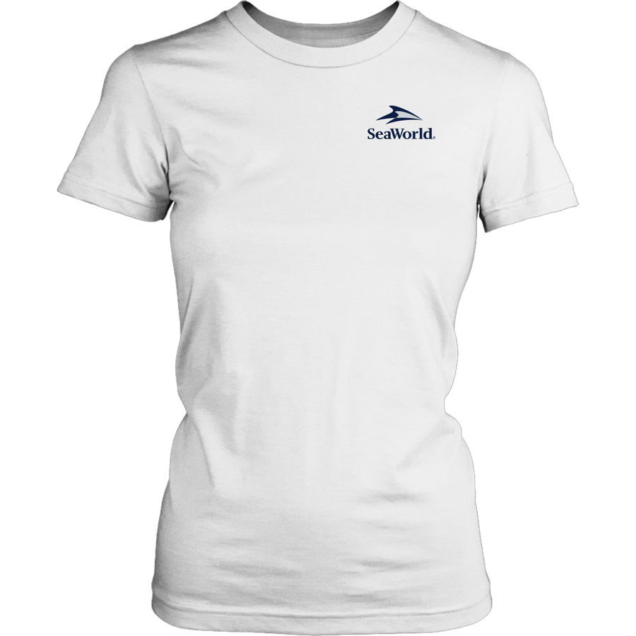 SeaWorld Americana Wavy Flag Ladies Tee