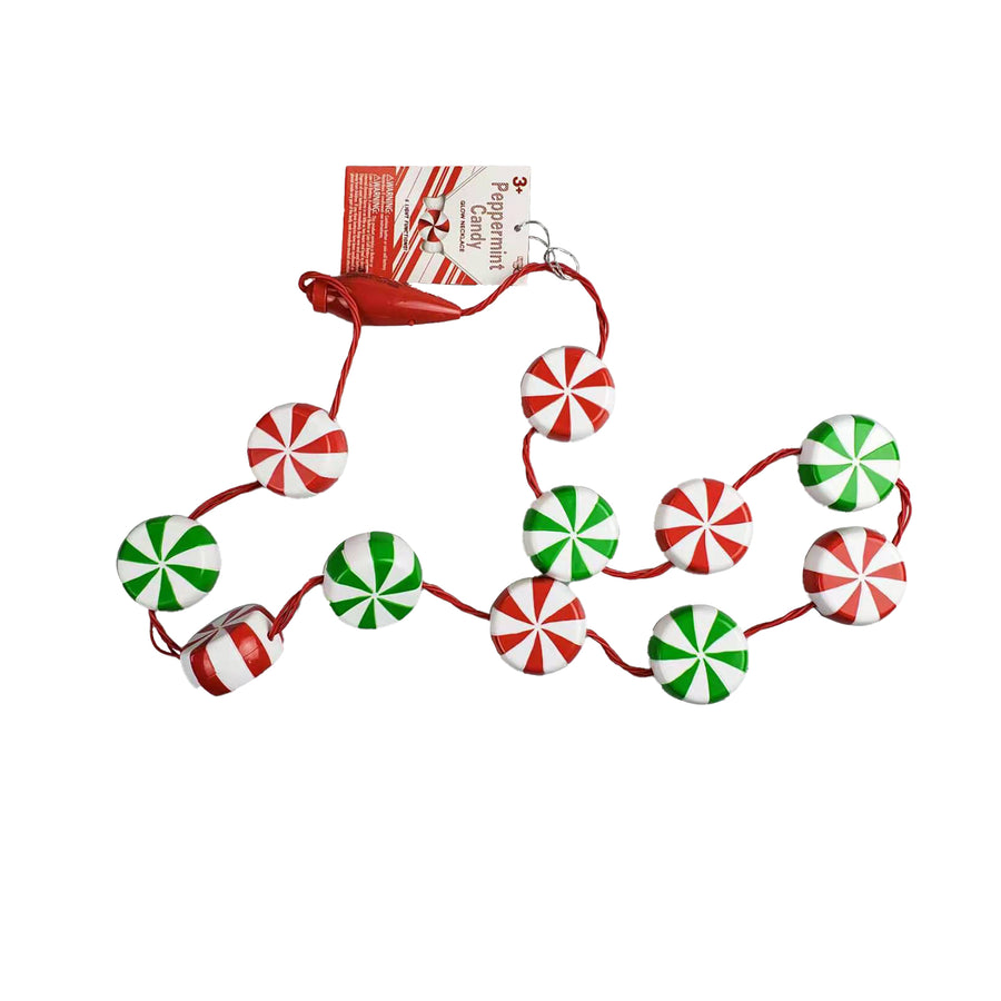 Light Up Peppermint Lanyard