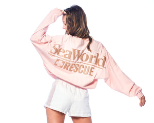 SeaWorld Rescue Pink Junior Long Sleeve Tee