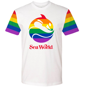SeaWorld Rainbow White Adult Tee