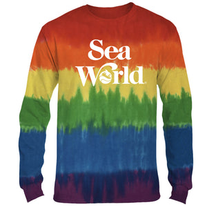 SeaWorld Rainbow Tie-Dye Adult Long Sleeve