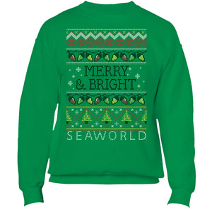 SeaWorld Ugly Christmas Sweater - Adult Crew Fleece