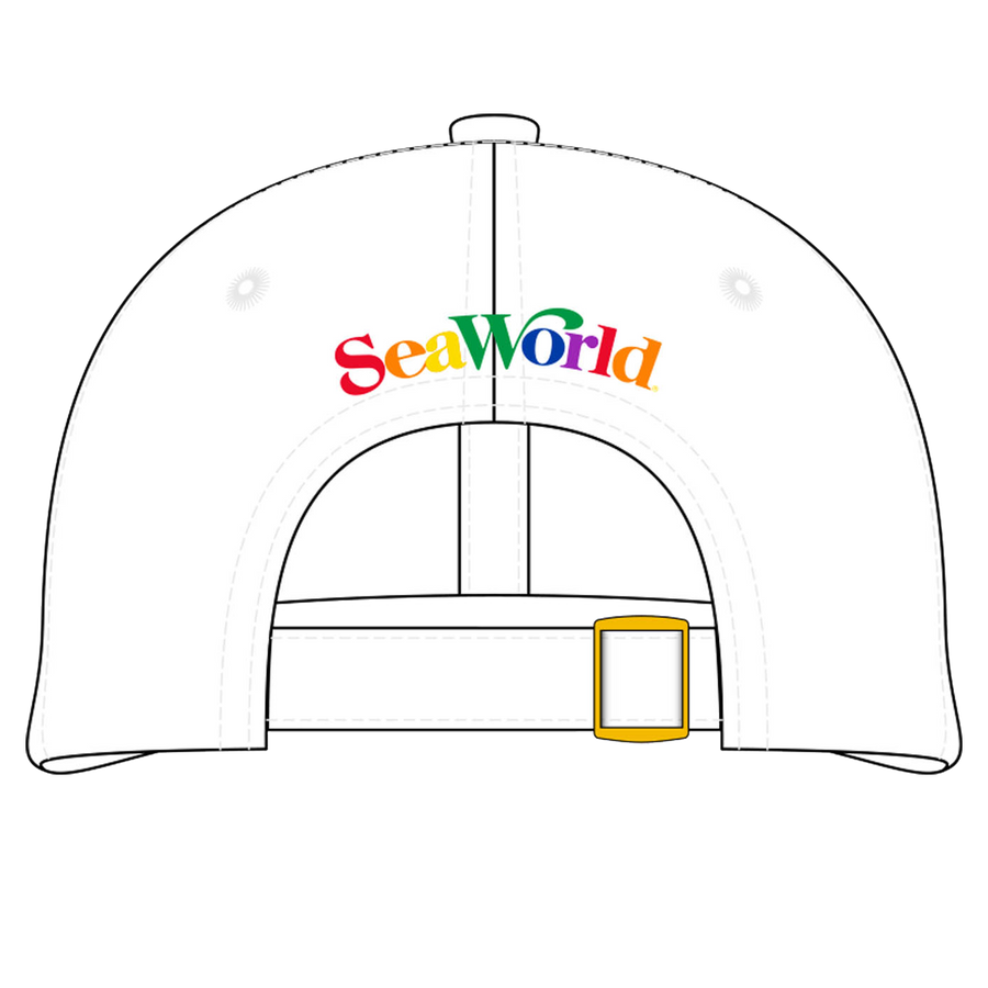 SeaWorld Rainbow Baseball Hat