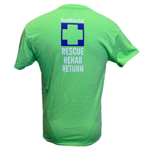 SeaWorld Rescue Rehab Return Tee - Lime